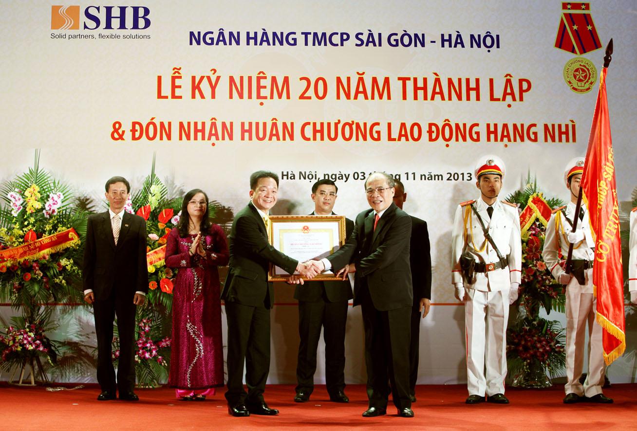 SHB đón nhận Huân chương Lao động Hạng Nhì của Nhà nước